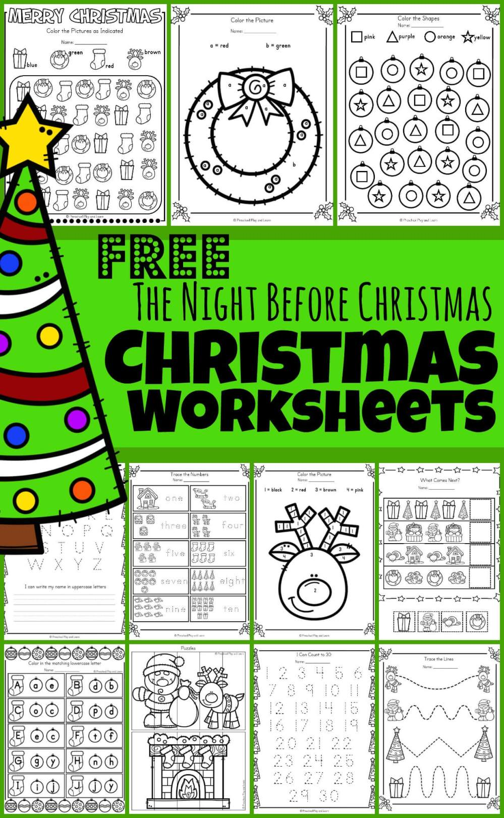 medium resolution of FREE 🎄The Night Before Christmas Worksheets