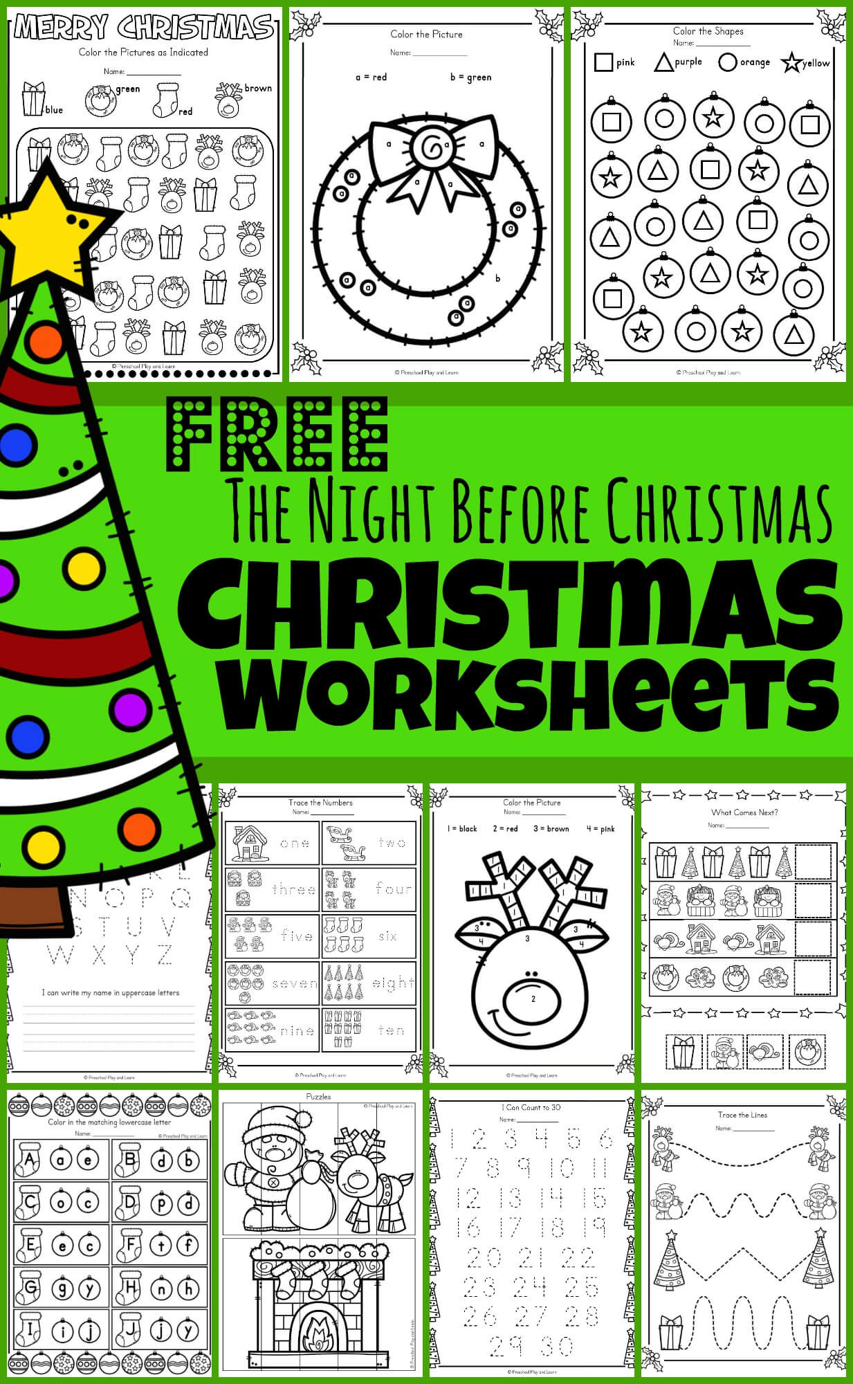 hight resolution of FREE 🎄The Night Before Christmas Worksheets