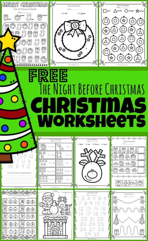 small resolution of FREE 🎄The Night Before Christmas Worksheets
