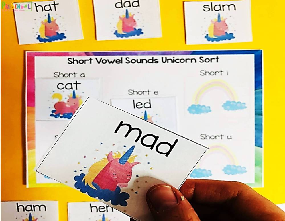 medium resolution of FREE Unicorn Short Vowels Activity
