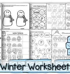 FREE Winter Worksheets for Preschoolers [ 871 x 1528 Pixel ]