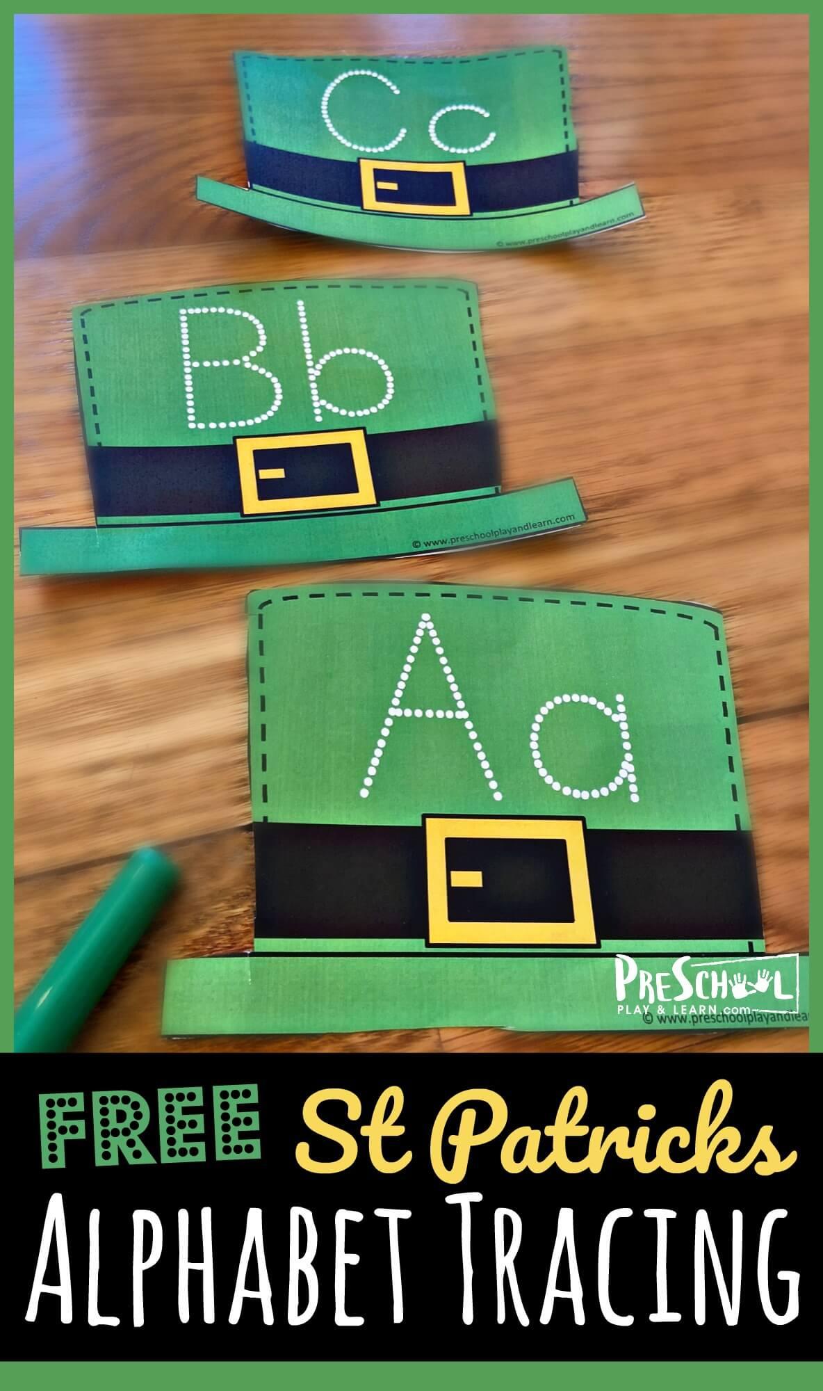 Free St Patricks Alphabet Tracing