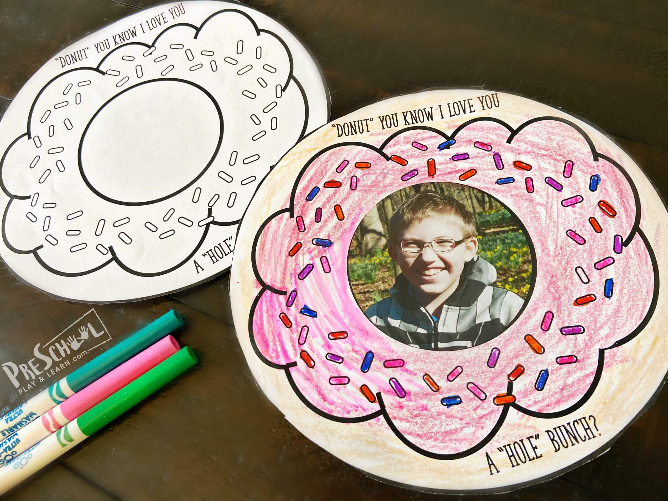 Donut Preschool Fathers Day Craft
