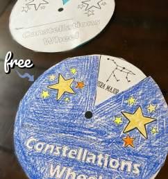 FREE Free Constellations Wheel Printables [ 2048 x 1536 Pixel ]