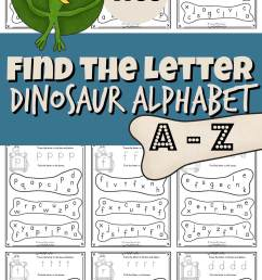 FREE Find the Letter Dinosaur Alphabet Fun [ 2000 x 1190 Pixel ]