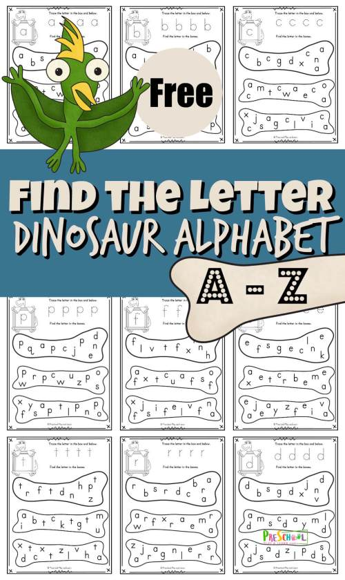 small resolution of FREE Find the Letter Dinosaur Alphabet Fun