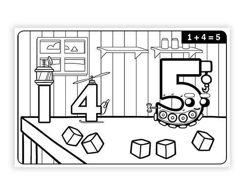 Math Facts Addition & Subtraction Coloring Book 1