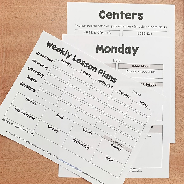 Editable daily schedule for preschool. Preschool Lesson Plan Template For Weekly Planning Preschool Teacher 101