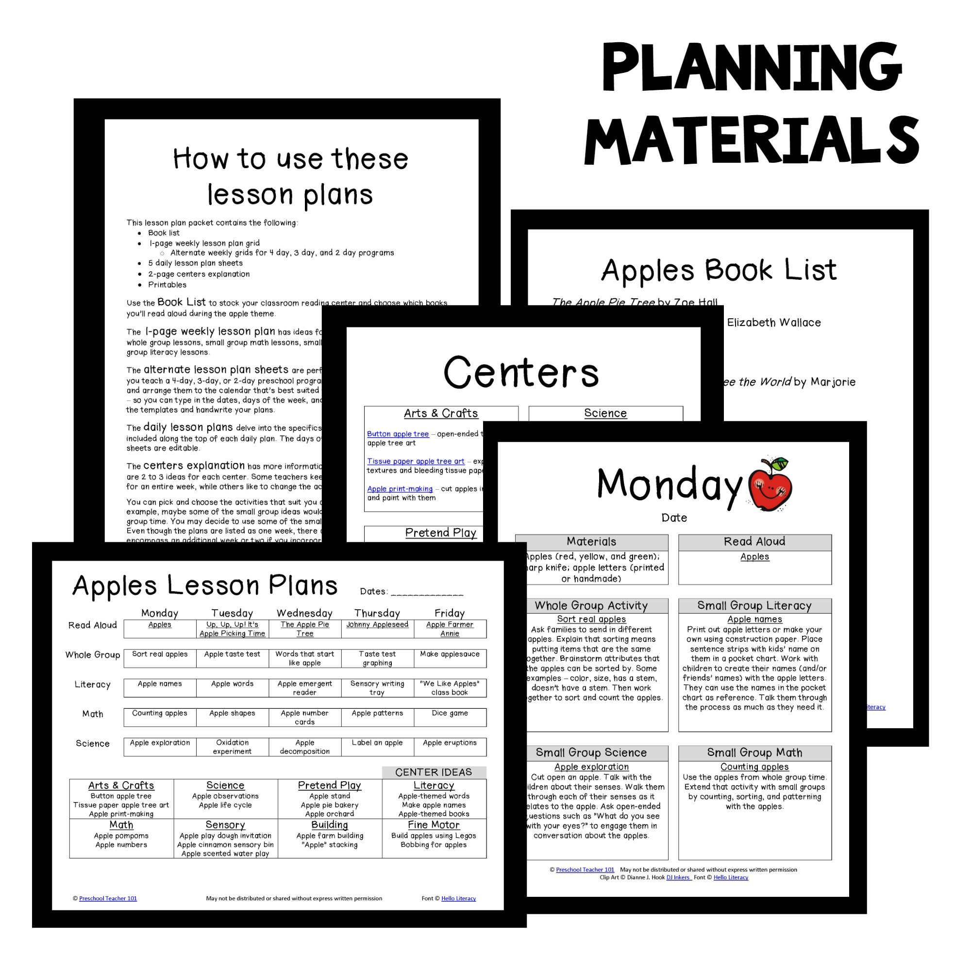 Apple Theme Preschool Classroom Lesson Plans