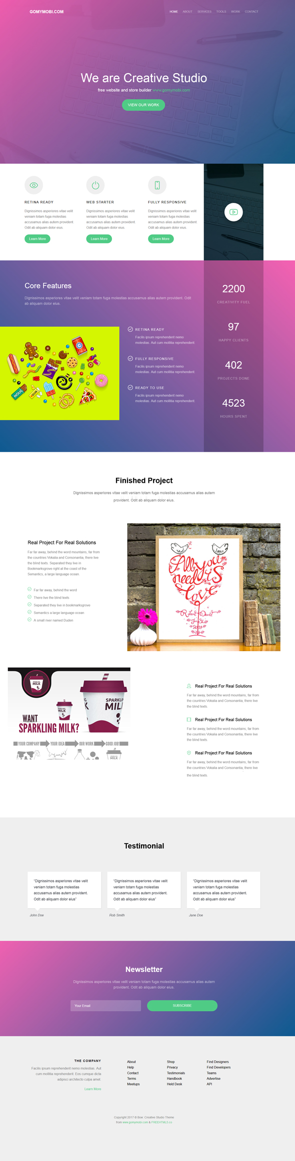 gomymobiBSB's Site Theme: Bow - Creative Studio - 2
