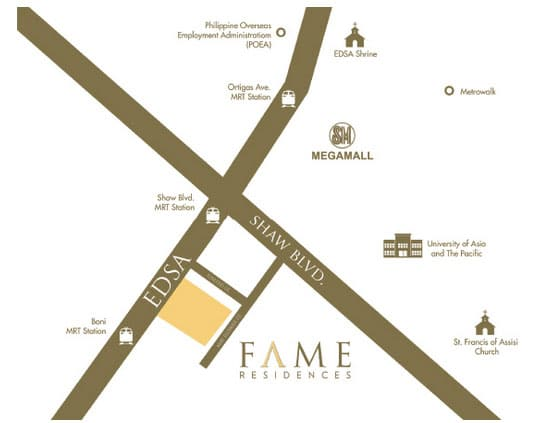 Fame Residences Location and Vicinity Map