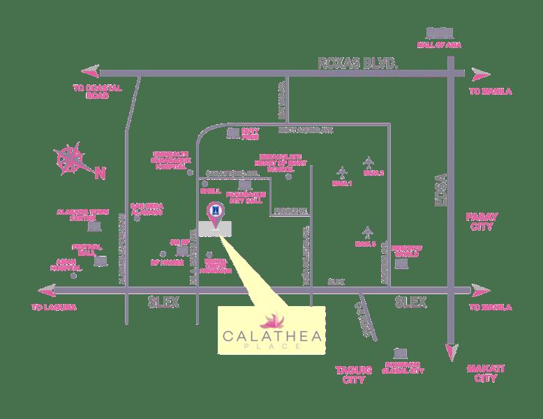 Calathea Place Location Map