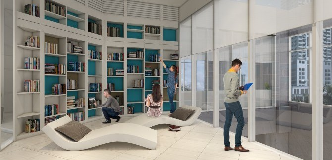 Trion Tower Library Lounge