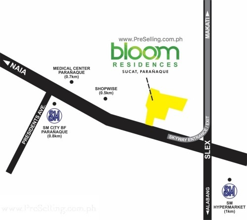 Bloom Residences Location and Vicinity