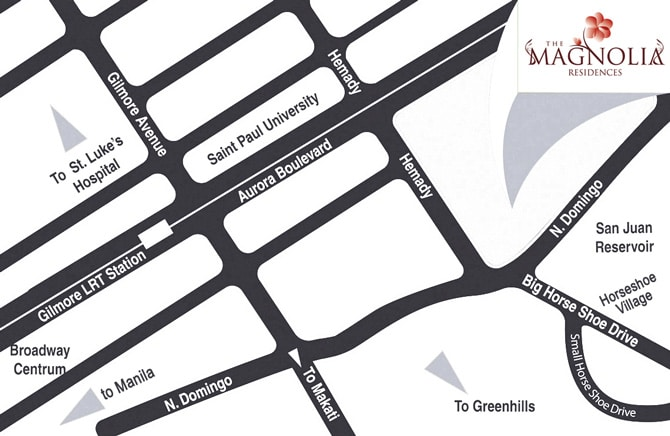 magnolia residences - Condo in New Manila location and vicinity map