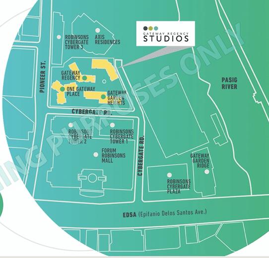 Gateway Regency Studios Location and Vicinity