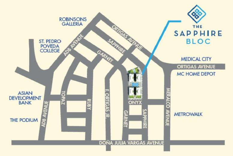 The Sapphire Bloc East Tower Location and Vicinity