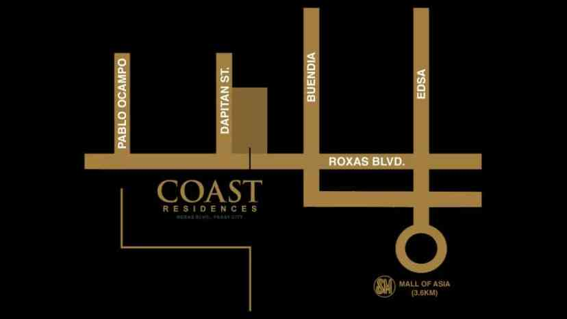 Coast Residences Location and Vicinity Map