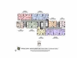 29th - 45th Floor High Zone Floor Plan