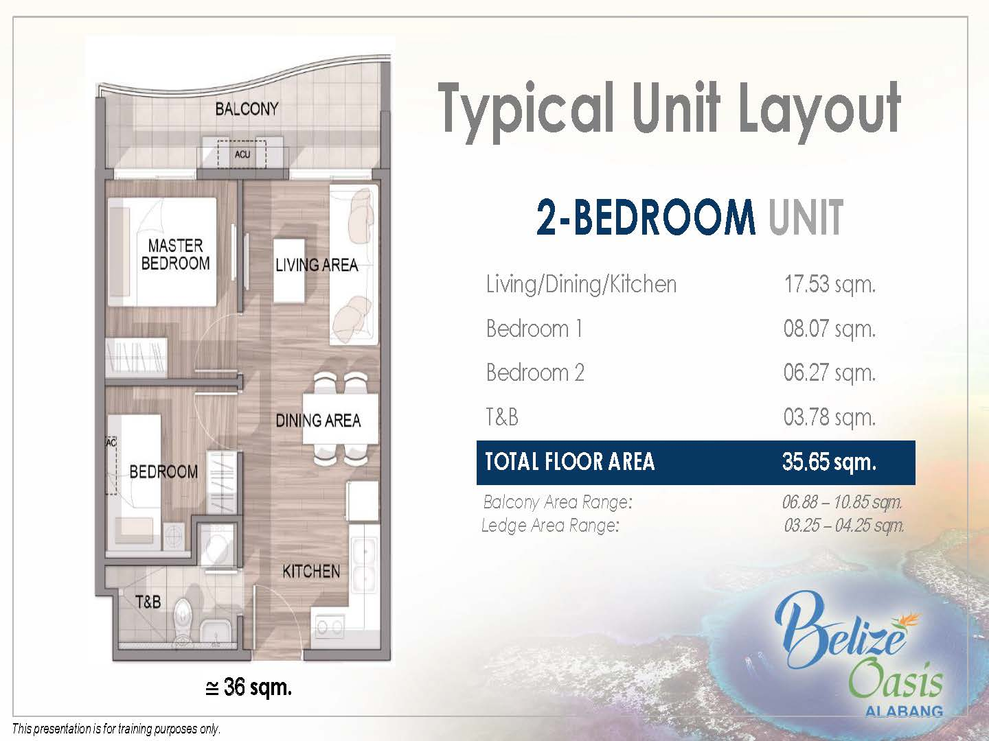 Belize Oasis Unit Layout