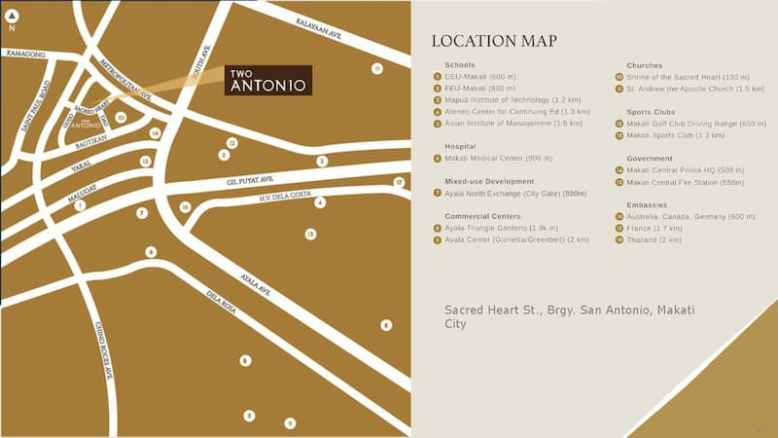 Two Antonio Location and Vicinity