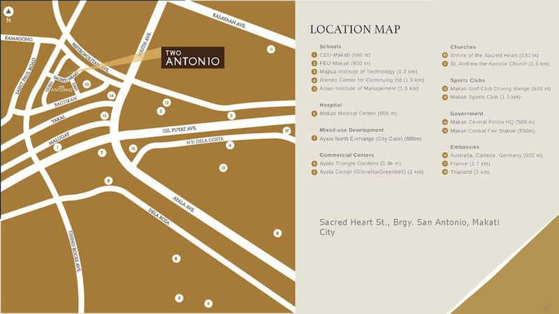 Two Antonio Location and Vicinity