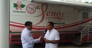 """Jesús """"Jerry"""" Márquez Rodríguez, acalde de Luquillo siendo entrevistado. (Foto/Suministrada)"""