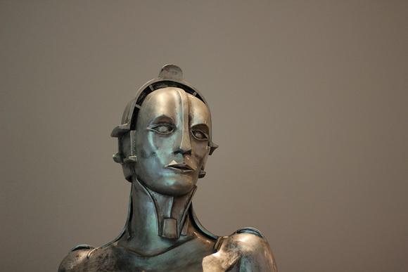 Escultura de un robot
