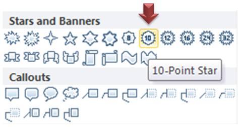 10 point star menu
