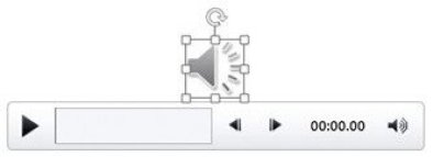 Audio Icon in PowerPoint Slide