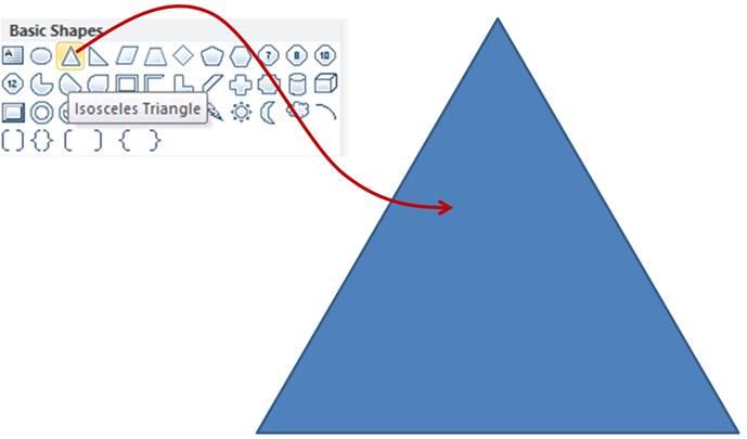 Base Triangle for Pyramid Shape