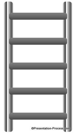 Amazing Ladder Diagram In Powerpoint