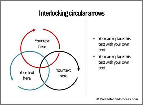 Interlocking Arrows in PowerPoint