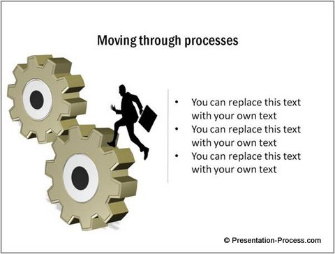 Process represented with Gear from PowerPoint CEO Pack