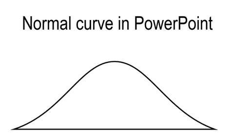 PowerPoint Normal Curve Diagram