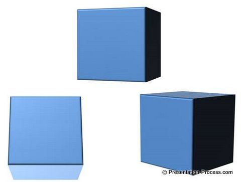 PowerPoint 3D Cube Image