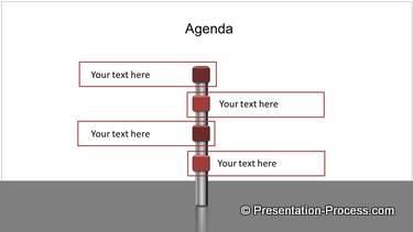 Agenda Items on Signboard