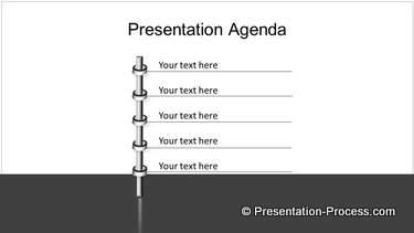 PowerPoint 3D Metal Bar