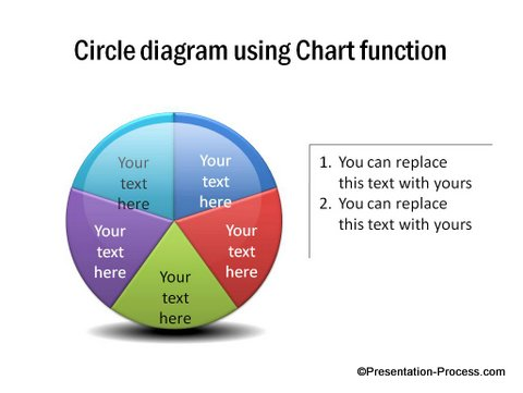 PowerPoint Circle Diagram with Gloss