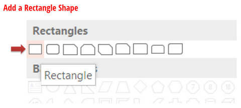 Add a Rectangle Shape in PowerPoint