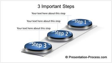 PowerPoint 3D Steps