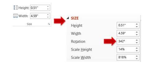 PowerPoint Rotation Menu