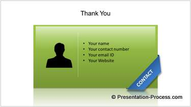 Thank You and Contact Details
