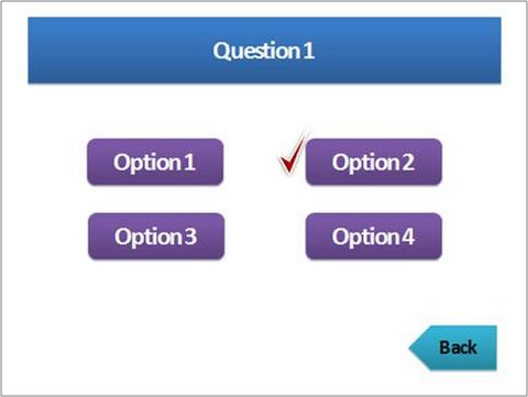 an objective type quiz in PowerPoint