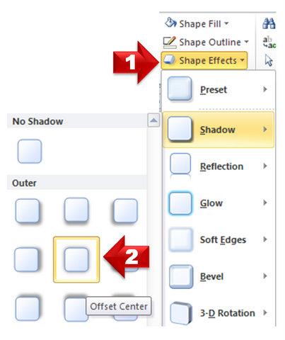Shadow Shape Effect in PowerPoint