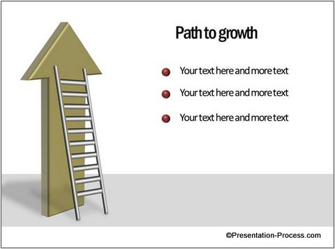 Amazing Ladder Diagram In Powerpoint