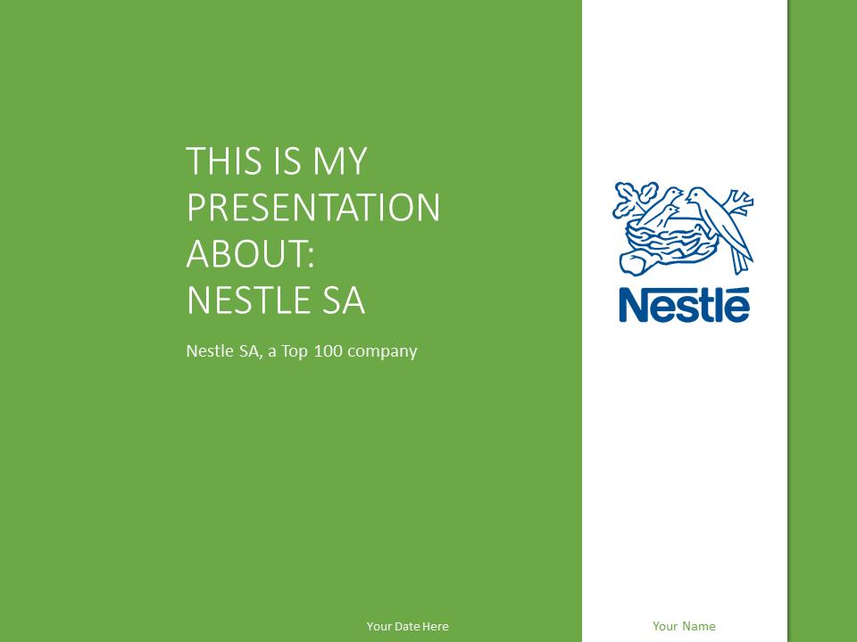 Free PowerPoint Templates about Nestl  PresentationGocom