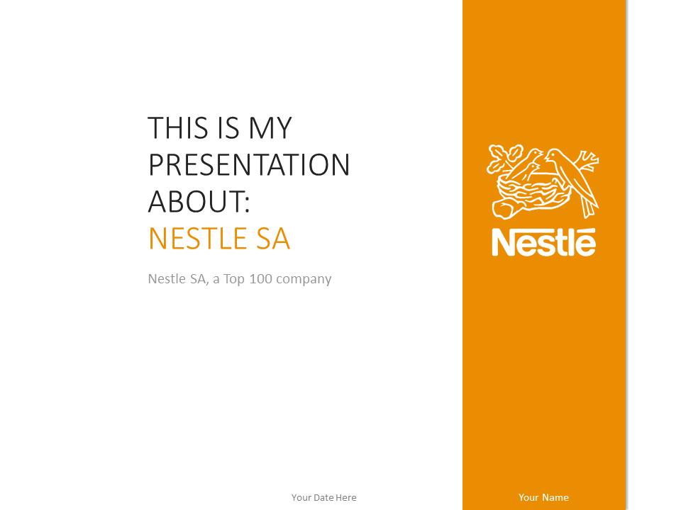 Nestl PowerPoint Template Orange  PresentationGOcom