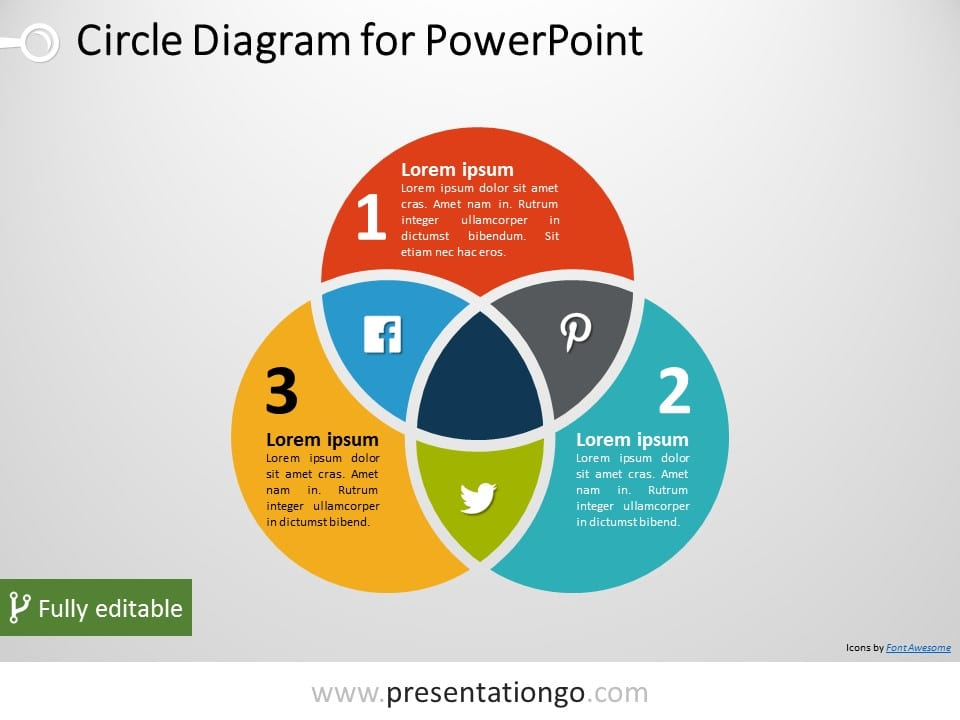 6 circle writable venn diagram example husqvarna 240 chainsaw parts free diagrams powerpoint templates presentationgo com 3