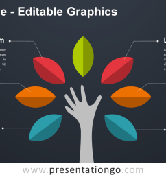 hand tree powerpoint diagram dark background widescreen size 16 9  [ 1280 x 720 Pixel ]